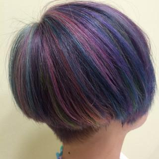 ダブルカラー ハイライト ブリーチ ストリート ヘアスタイルや髪型の写真・画像
