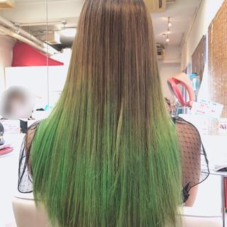 ストリート イルミナカラー グラデーションカラー ロング ヘアスタイルや髪型の写真・画像 ヘアスタイルや髪型の写真・画像