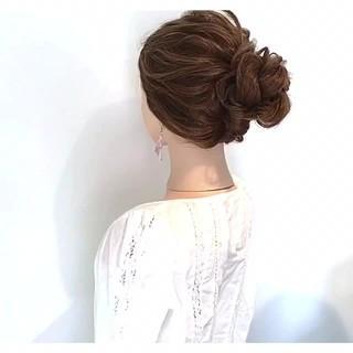 デート 簡単ヘアアレンジ 女子会 フェミニン ヘアスタイルや髪型の写真・画像
