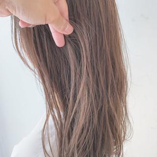 透明感カラー ヘアカラー ハイライト ナチュラル ヘアスタイルや髪型の写真・画像