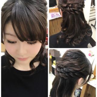 女子会 ミディアム 結婚式 デート ヘアスタイルや髪型の写真・画像