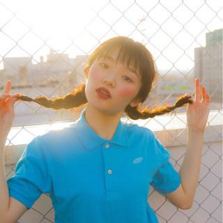 夏 色気 簡単ヘアアレンジ リラックス ヘアスタイルや髪型の写真・画像