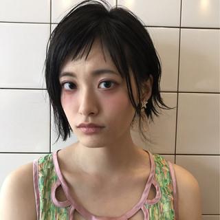 女子会 デート ヘアアレンジ 暗髪 ヘアスタイルや髪型の写真・画像