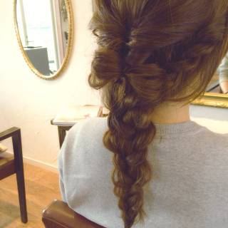 ヘアアレンジ 編み込み コンサバ 簡単ヘアアレンジ ヘアスタイルや髪型の写真・画像