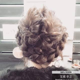 ヘアアレンジ くるりんぱ ロング 編み込み ヘアスタイルや髪型の写真・画像 ヘアスタイルや髪型の写真・画像