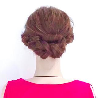 フェミニン アップスタイル 簡単ヘアアレンジ ロング ヘアスタイルや髪型の写真・画像