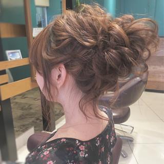 ヘアアレンジ ナチュラル ゆるふわ シニヨン ヘアスタイルや髪型の写真・画像 ヘアスタイルや髪型の写真・画像