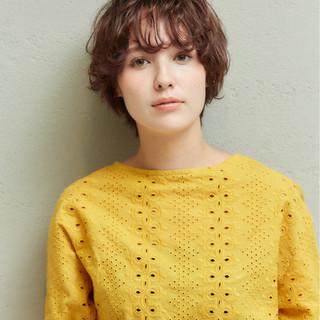 アンニュイ ショート 似合わせ デート ヘアスタイルや髪型の写真・画像