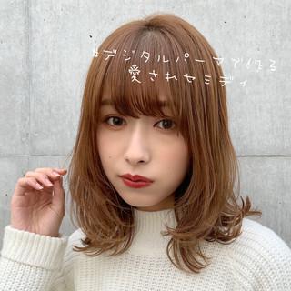 ミディアム 外国人風カラー ヘアカラー 大人ハイライト ヘアスタイルや髪型の写真・画像