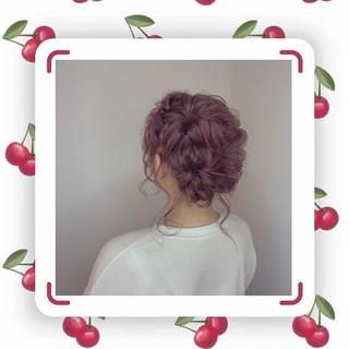 ヘアアレンジ ガーリー 成人式 デート ヘアスタイルや髪型の写真・画像