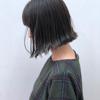 インナーカラー ナチュラル ボブ 大人かわいい ヘアスタイルや髪型の写真・画像