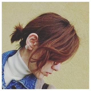 ゆるふわ 前髪あり かき上げ前髪 ボブ ヘアスタイルや髪型の写真・画像