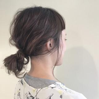 ヘアアレンジ ナチュラル 外国人風 ハイライト ヘアスタイルや髪型の写真・画像 ヘアスタイルや髪型の写真・画像