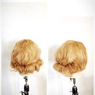 セミロング 外国人風 簡単ヘアアレンジ グラデーションカラー ヘアスタイルや髪型の写真・画像