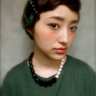 ヘアアレンジ ストレート 三つ編み ストリート ヘアスタイルや髪型の写真・画像