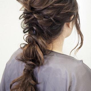 ナチュラル ロング 簡単ヘアアレンジ 結婚式 ヘアスタイルや髪型の写真・画像