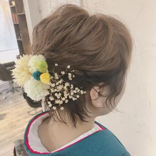 成人式 ショートアレンジ ガーリー ヘアアレンジ ヘアスタイルや髪型の写真・画像 ヘアスタイルや髪型の写真・画像