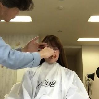 デート 前髪あり フェミニン ニュアンス ヘアスタイルや髪型の写真・画像