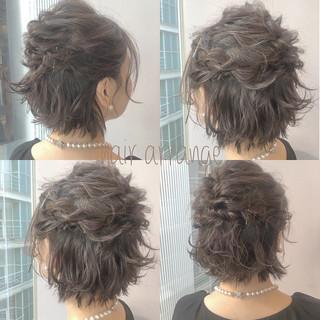 ブライダル ヘアアレンジ デート ショート ヘアスタイルや髪型の写真・画像 ヘアスタイルや髪型の写真・画像