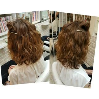 ヘアアレンジ 簡単ヘアアレンジ ガーリー ショート ヘアスタイルや髪型の写真・画像