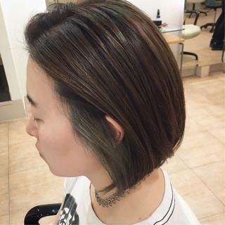 ブルー ロック ブリーチオンカラー ボブ ヘアスタイルや髪型の写真・画像