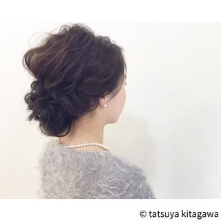 外国人風 結婚式 ヘアアレンジ フェミニン ヘアスタイルや髪型の写真・画像