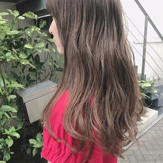 透明感カラー ロング ハイトーン ナチュラル ヘアスタイルや髪型の写真・画像