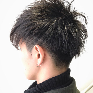 ナチュラル メンズショート ショート メンズカジュアル ヘアスタイルや髪型の写真・画像