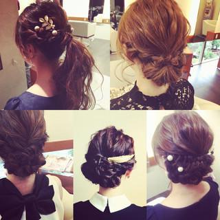 ハーフアップ ヘアアレンジ ショート 大人かわいい ヘアスタイルや髪型の写真・画像 ヘアスタイルや髪型の写真・画像