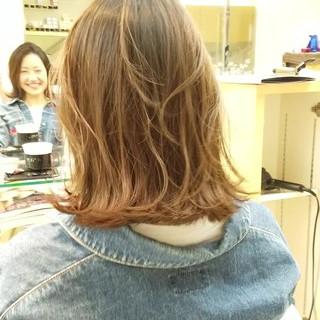 ウェーブ ロブ 春 モード ヘアスタイルや髪型の写真・画像