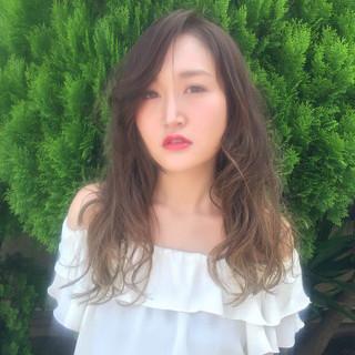 アッシュ モード うざバング 外国人風 ヘアスタイルや髪型の写真・画像