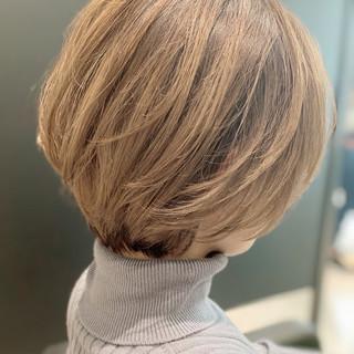 ショートボブ 丸みショート ナチュラル ボブ ヘアスタイルや髪型の写真・画像