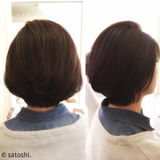 アッシュ ボブ 大人女子 ナチュラル ヘアスタイルや髪型の写真・画像