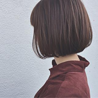 切りっぱなし 大人女子 ナチュラル ワンカール ヘアスタイルや髪型の写真・画像
