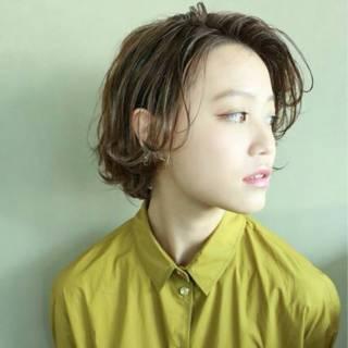 透明感 外国人風カラー ストリート ショート ヘアスタイルや髪型の写真・画像