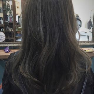 暗髪 透明感 イルミナカラー セミロング ヘアスタイルや髪型の写真・画像 ヘアスタイルや髪型の写真・画像