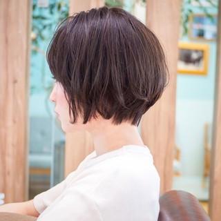 大人かわいい 小顔 ショートヘア ショート ヘアスタイルや髪型の写真・画像