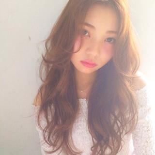 外国人風 ロング ガーリー 大人かわいい ヘアスタイルや髪型の写真・画像