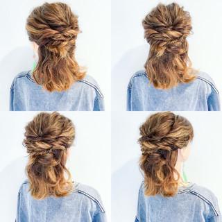 簡単ヘアアレンジ 色気 ヘアアレンジ 涼しげ ヘアスタイルや髪型の写真・画像