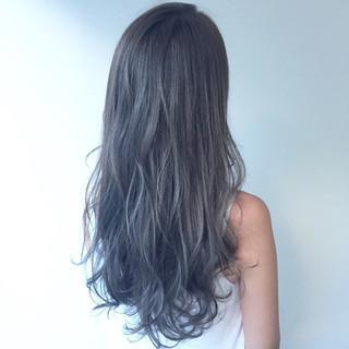 外国人風カラー グレージュ 外国人風 ウェーブ ヘアスタイルや髪型の写真・画像