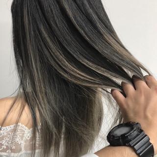 バレイヤージュ エアータッチ モード 外国人風カラー ヘアスタイルや髪型の写真・画像