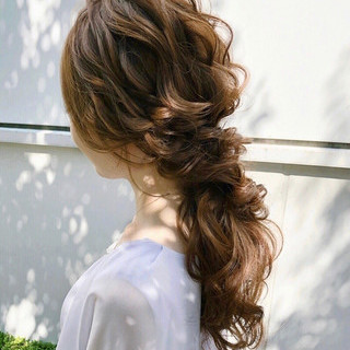 大人かわいい ゆるナチュラル ヘアアレンジ 結婚式ヘアアレンジ ヘアスタイルや髪型の写真・画像