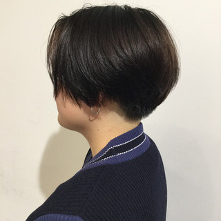 ショート 簡単スタイリング ハンサムショート モード ヘアスタイルや髪型の写真・画像