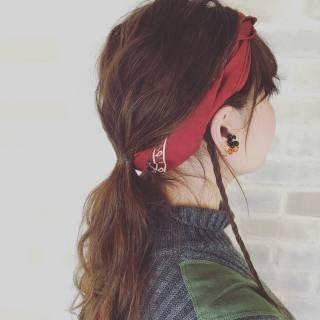 束感 ヘアアレンジ グラデーションカラー 編み込み ヘアスタイルや髪型の写真・画像 ヘアスタイルや髪型の写真・画像