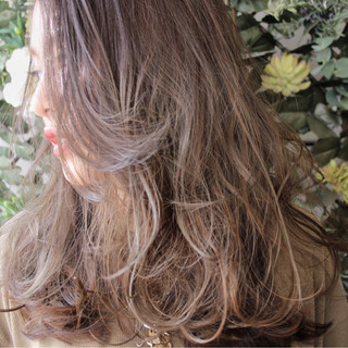 エレガント 上品 外国人風 ハイライト ヘアスタイルや髪型の写真・画像