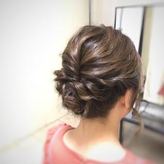 ヘアアレンジ スッキリ 結婚式 フェミニン ヘアスタイルや髪型の写真・画像