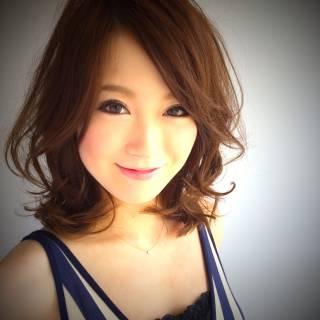 モテ髪 ゆるふわ 丸顔 卵型 ヘアスタイルや髪型の写真・画像