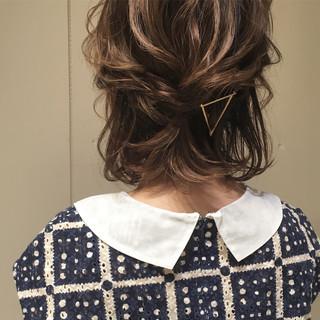 ナチュラル ヘアアレンジ 結婚式 ゆるふわ ヘアスタイルや髪型の写真・画像