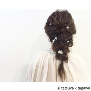 ポニーテール ロング 結婚式 ヘアアレンジ ヘアスタイルや髪型の写真・画像