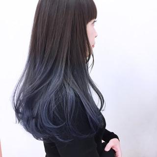 ガーリー 暗髪 ハイトーン ラベンダー ヘアスタイルや髪型の写真・画像